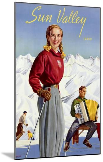 Sun Valley, Idaho--Mounted Print