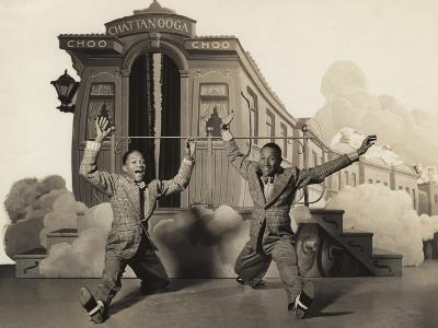 Sun Valley Serenade, Nicholas Brothers, 1941, Doing A Dancing Split--Photo
