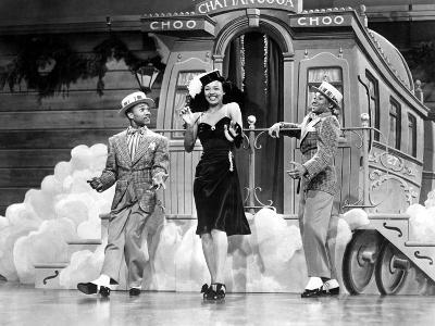 Sun Valley Serenade, Nicholas Brothers, Dorothy Dandridge, 1941, 'Chatanooga Choo Choo.'--Photo