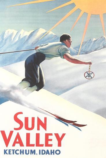 Sun Valley Travel Poster--Art Print