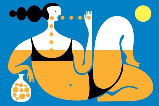 Sunbather-Melinda Beck-Art Print