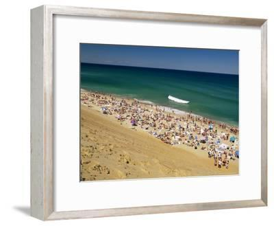 Sunbathers at Newcomb Hollow Beach in Wellfleet-Michael Melford-Framed Photographic Print