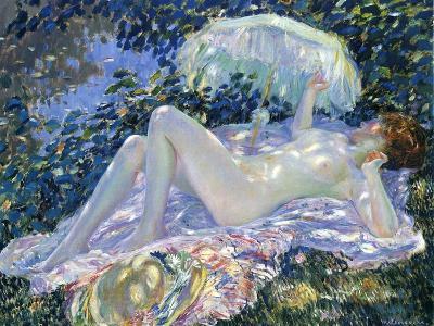 Sunbathing, C.1913-Frederick Carl Frieseke-Giclee Print