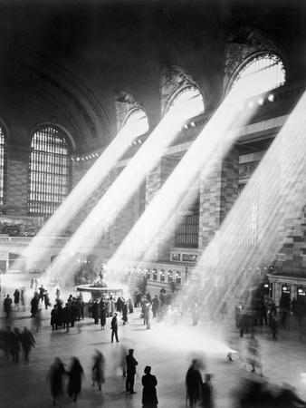 Sunbeams in Grand Central Station--Premium Photographic Print