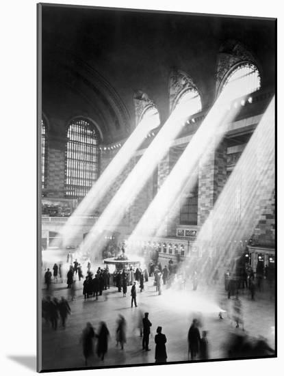 Sunbeams in Grand Central Station--Mounted Photographic Print