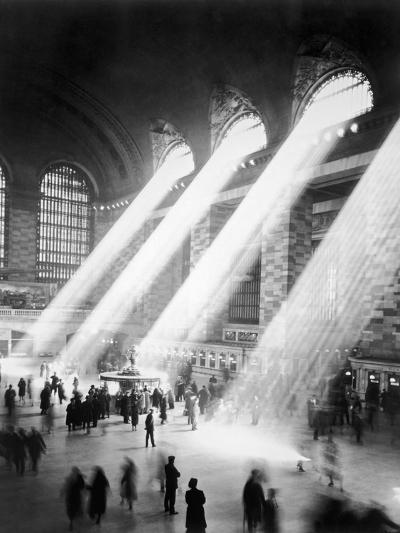 Sunbeams in Grand Central Station--Photographic Print