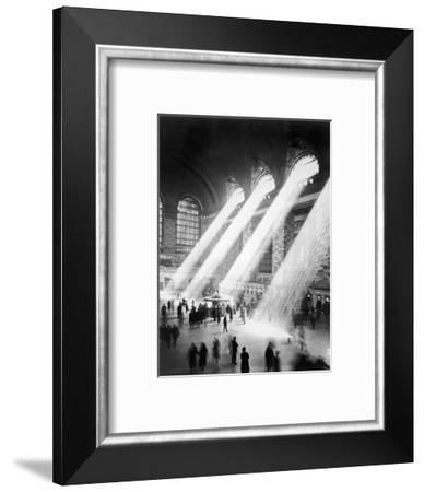 Sunbeams in Grand Central Station--Framed Photographic Print