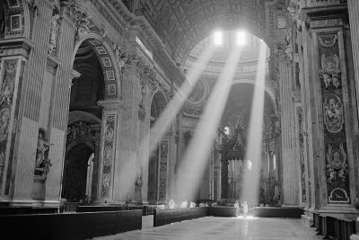 Sunbeams Inside St. Peter's Basilica-Owen Franken-Giant Art Print