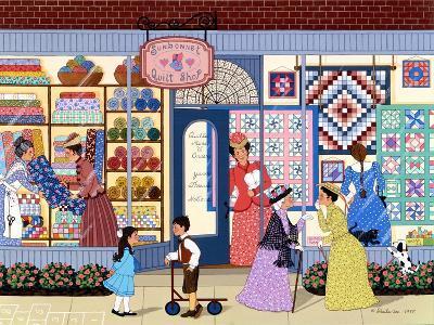 Sunbonnet Quilt Shop-Sheila Lee-Giclee Print