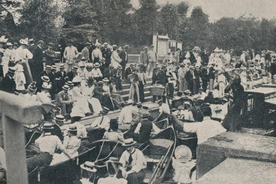 'Sunday Afternoon at Boulter's Lock, Maidenhead', 1901-Unknown-Photographic Print