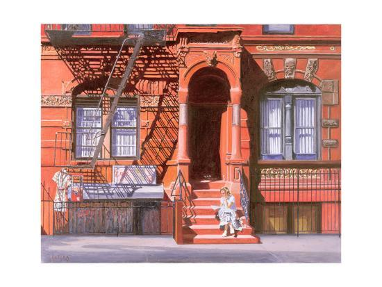 Sunday Afternoon, East 7th Street, Lower East Side, NYC, 2006-Anthony Butera-Giclee Print