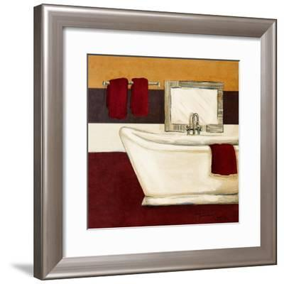 Sunday Bath in Red I-Hakimipour-ritter-Framed Art Print