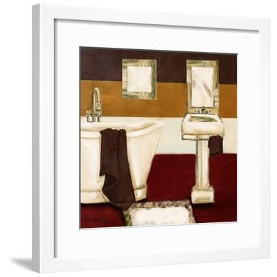 Sunday Bath in Red II-Hakimipour-ritter-Framed Art Print
