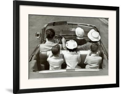 Sunday Drive--Framed Art Print
