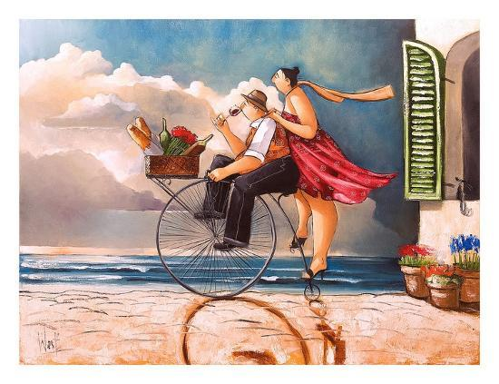 Sunday Drive-Ronald West-Art Print
