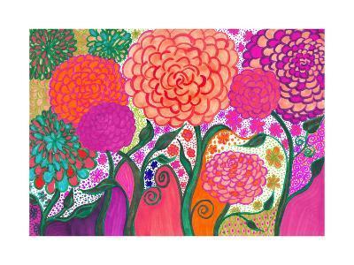Sunday Flowers AG Drawing-Alaya Gadeh-Art Print