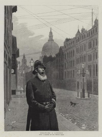 Sunday in London-Adrien Emmanuel Marie-Giclee Print