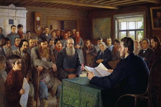 Sunday Message in a Village School, 1895-Nikolai Petrovich Bogdanov-Belsky-Giclee Print