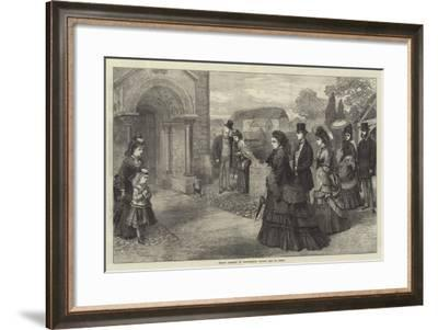 Sunday Morning at Whippingham Church, Isle of Wight--Framed Giclee Print