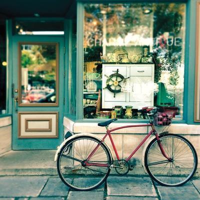 Sunday Morning Bike-Sue Schlabach-Art Print