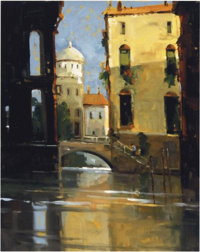 Sunday Morning, Venice-Ted Goerschner-Giclee Print