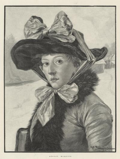 Sunday Morning-George Edward Robertson-Giclee Print