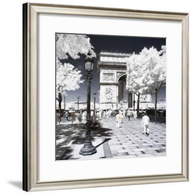 Sunday Paris - In the Style of Oil Painting-Philippe Hugonnard-Framed Giclee Print