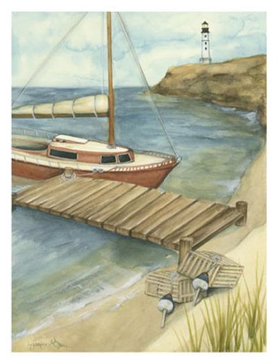 Sunday Sail II-Jennifer Goldberger-Art Print
