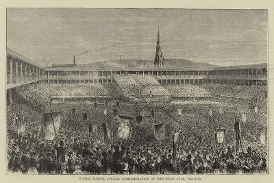 Sunday School Jubilee Commemoration at the Piece Hall, Halifax--Giclee Print