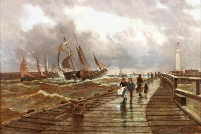 Sunderland Piers, 1843, 1886-John James Syer-Giclee Print