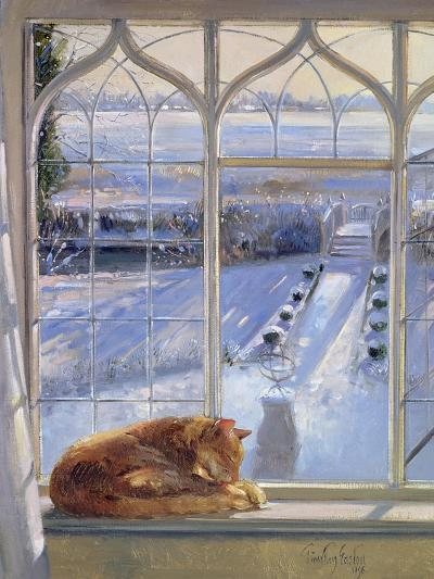 Sundial and Cat-Timothy Easton-Giclee Print