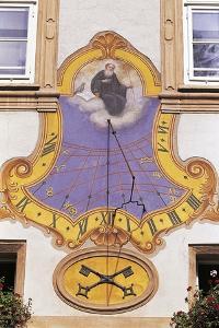 Sundial on a Wall, Salzburg, Austria