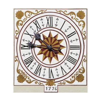 Sundial on Bell Tower of Church of St Lawrence, 16th Century, Sover, Trentino-Alto Adige, Italy--Giclee Print