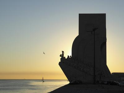 Sundown at the Monument to the Discoveries (Padrao Dos Descobrimentos) by the River Tagus (Rio Tejo-Stuart Forster-Photographic Print