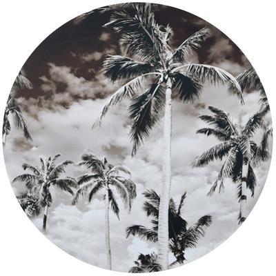 Sundown - Circular Canvas Giclee Printed on 2 - Wood Stretcher Wall Art