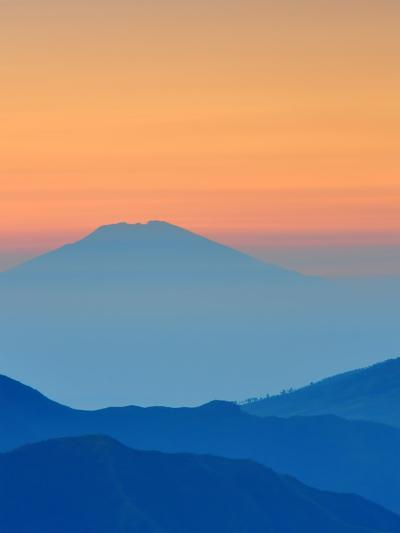 Sundown In Mountains Landscape-Grab My Art-Art Print