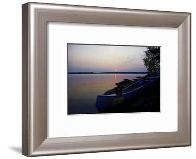 Sundown, Lelång Lake, Dalsland, Sweden-Andrea Lang-Framed Photographic Print