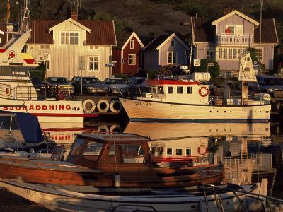 Sundown Over South Harbour, Village of Fjallbacka, Bohuslan, Sweden, Scandinavia-Kim Hart-Photographic Print