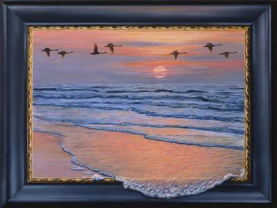 Sundown with Swans-Harro Maass-Giclee Print