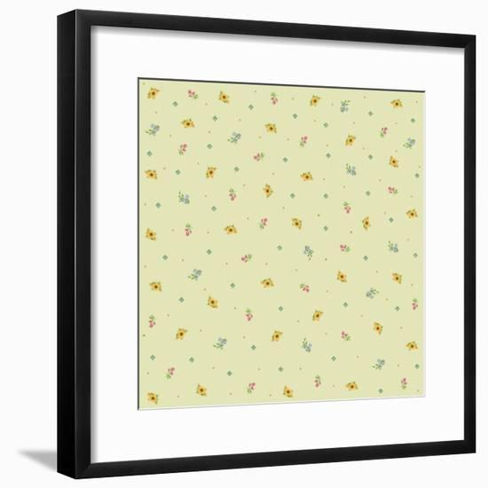 Sunflower Background-Maria Trad-Framed Giclee Print