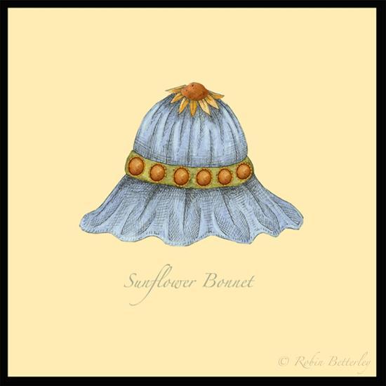 Sunflower Bonnet-Robin Betterley-Giclee Print