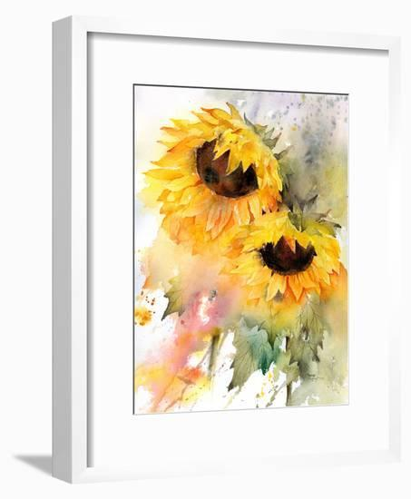 Sunflower Duo-Rachel McNaughton-Framed Art Print