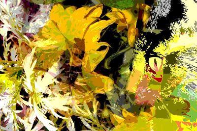 Sunflower Series Garden Variety Cat-Ruth Palmer-Art Print