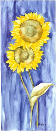 Sunflower Triptych I-Evol Lo-Art Print