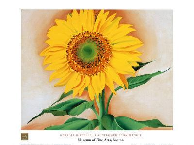 Sunflower-Georgia O'Keeffe-Art Print