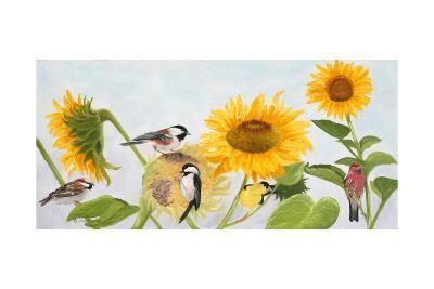 Sunflowers and Birds-Julie Peterson-Art Print