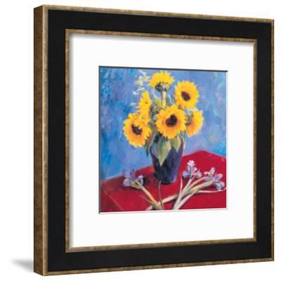 Sunflowers and Irises-Edward Noott-Framed Art Print