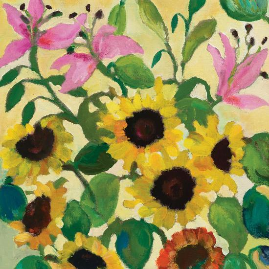Sunflowers and Pink Lilies-Kim Parker-Giclee Print
