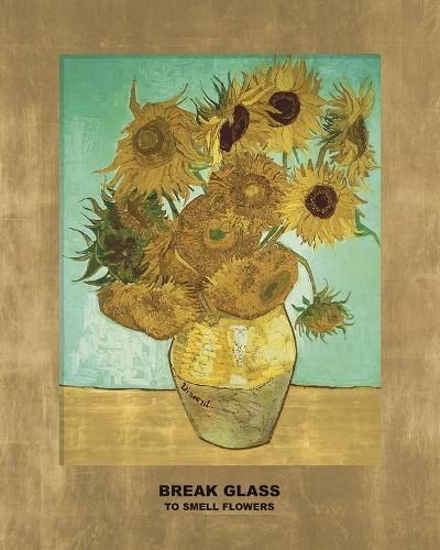 Sunflowers - Break Glass (after Vincent Van Gogh)-Eccentric Accents-Giclee Print