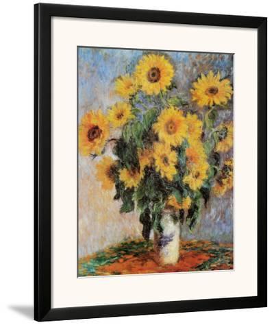 Sunflowers, c.1881-Claude Monet-Framed Art Print